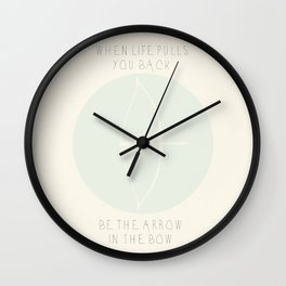 When Life Pulls You Back.. Wall Clock