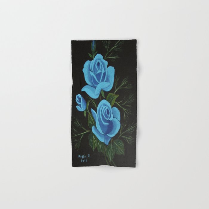 Blue Roses Hand & Bath Towel
