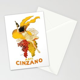 Vintage Asti Cinzano Poster by Leonetto Cappiello Beverage Champagne Drink Artwork for Prints Poster Stationery Cards