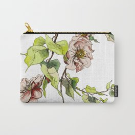 Camellia Inspired Flower Branch Carry-All Pouch