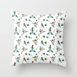 TRIANGLE FLOWERS Throw Pillow