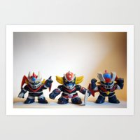 heroes Art Prints featuring heroes by caporilli