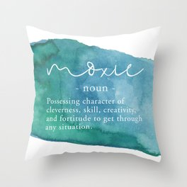 Moxie Definition - Blue Watercolor Throw Pillow