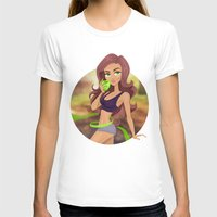fitness T-shirts featuring Fitness girl by Artgelina