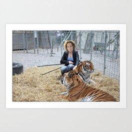 Tiger Macha Art Print