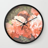blossom Wall Clocks featuring Blossom by 83 Oranges™