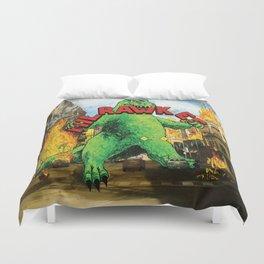 Milrawkee: Godzilla in the Third Ward Duvet Cover