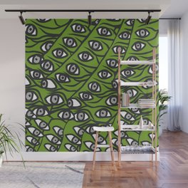 Freddie Eyeballs Avocado Green Wall Mural