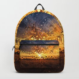The Endless Sunset Over Our Golden Elysian Fields Backpack