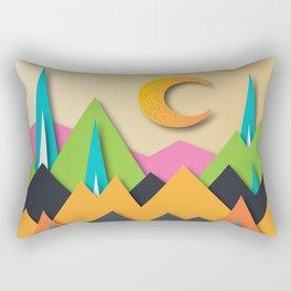 The Glass Mountains Rectangular Pillow