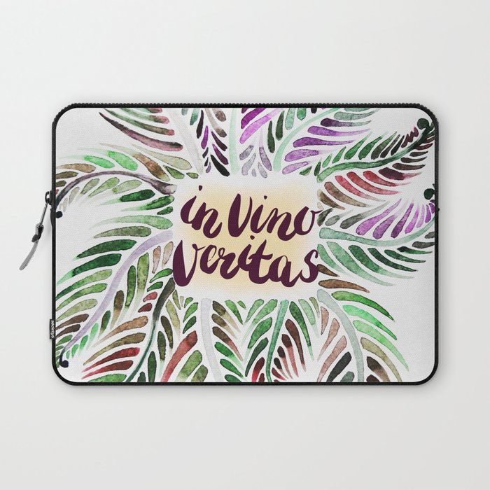 Fern.In vino veritas. In wine truth. Latin. Laptop Sleeve