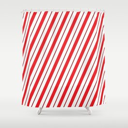 The Return of the Candy Cane - Christmas Illustration Shower Curtain