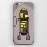 r2d2 iPhone & iPod Skins featuring R2D2 by Meg Gerena