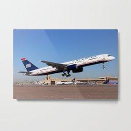 US Airways Boeing 757 takeoff Metal Print
