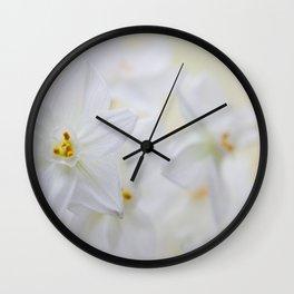 Paperwhite Wall Clock