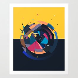 the night rises Art Print