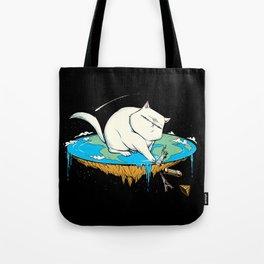 Flat Earth Cat Tote Bag