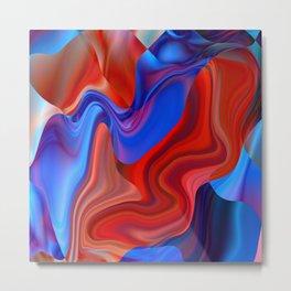 metal flowing paint liquid colors Metal Print