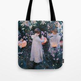 John Singer Sargent ; Carnation, Lily, Lily, Rose ; 1886 Tote Bag