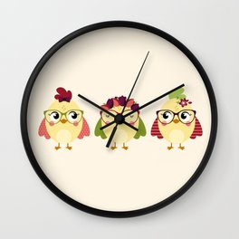 Triplettes poussines Wall Clock