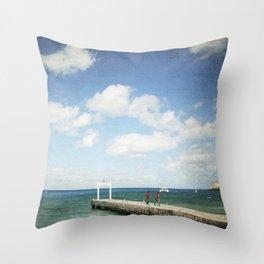 Carribean sea 7 Throw Pillow