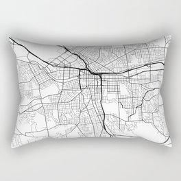 Syracuse Map, USA - Black and White Rectangular Pillow
