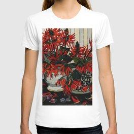 """Coral Flowers"" by Australian Artist Margaret Preston T-shirt"