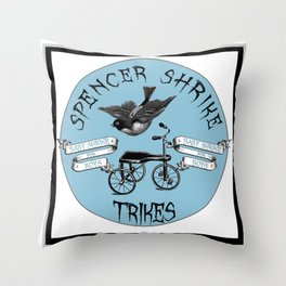 Shrike Trikes Boys Throw Pillow