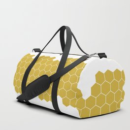 Honeycomb White Duffle Bag