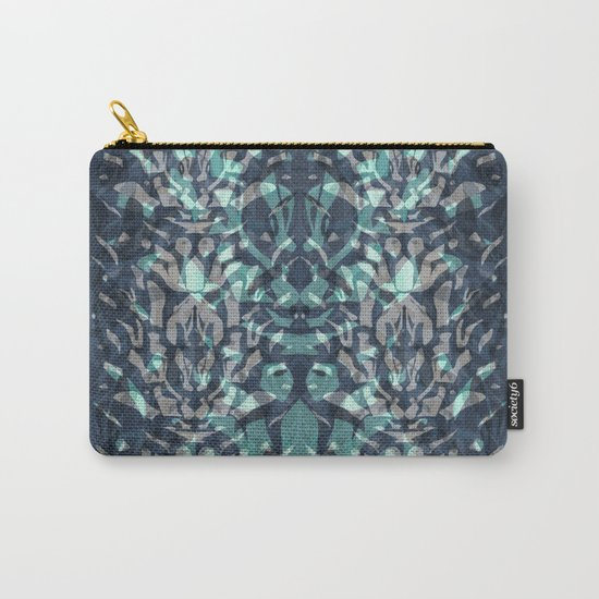 Abstract blue black pattern. Carry-All Pouch