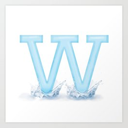 W is for Water Art Print