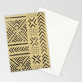 Line Mud Cloth // Tan Stationery Cards