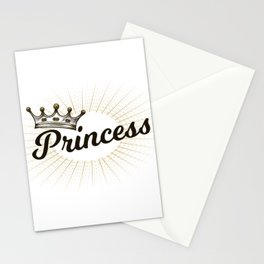 Princess lettering with crown Stationery Cards