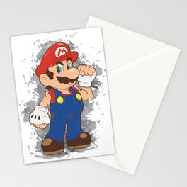 Street Fighter Mario Stationery Cards
