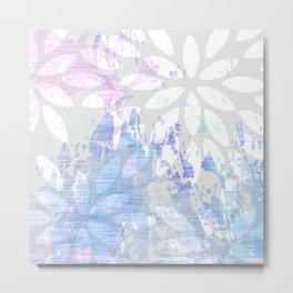 Abstract Splash Flowers Design Metal Print