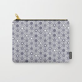 Grey Geo Mini Flower Carry-All Pouch