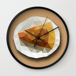 Pizza Slice on a Plate Geometry Polygon Design Illustration Wall Clock