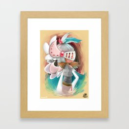 Miss Feather Knight Framed Art Print