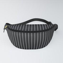 Black Linen Sterling Luna Song Pinstripe Fanny Pack