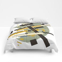 Geometric Abstract Malevic #10 Comforters