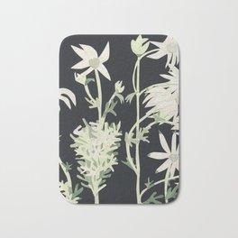 Flannel Flowers Bath Mat