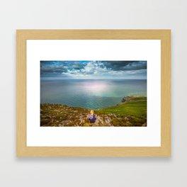 Irish sea Bray Framed Art Print