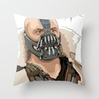 bane Throw Pillows featuring Bane by Thomas Moore