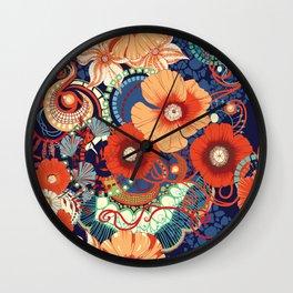Poppy pattern. Wall Clock