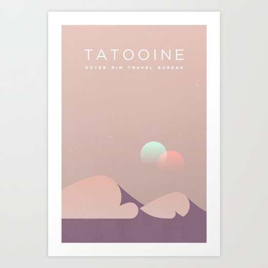 Outer Rim Travel Bureau: Tatooine Art Print