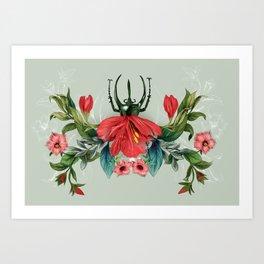 Blooming Folklore Bug Art Print