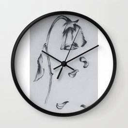 Dying Rose Wall Clock