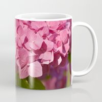 hydrangea Mugs featuring Hydrangea by Susann Mielke