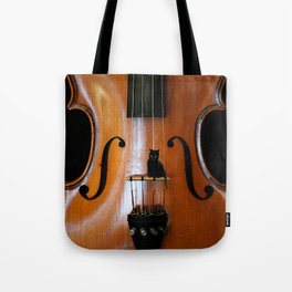 Black Cat And Violin #decor #society6 #buyart Tote Bag