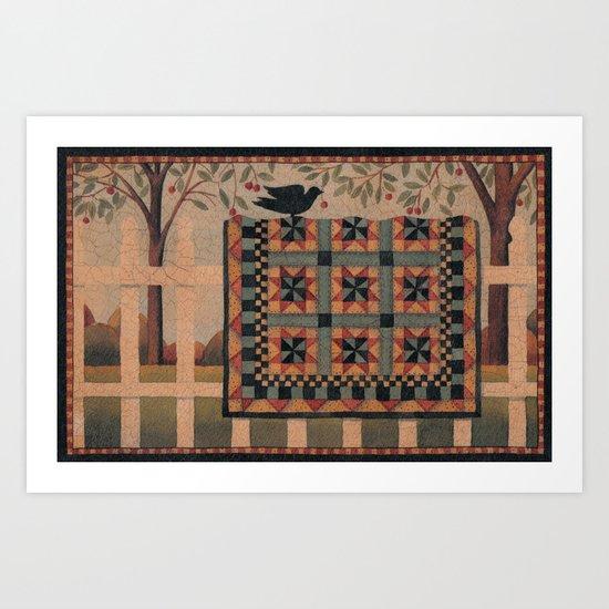 Cherries and Pinwheels Art Print